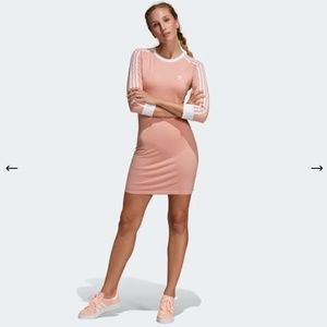 NWT Adidas 3 Stripes Dress in Dust Pink
